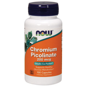 Chromium Picolinate 200mcg 100 cpr